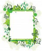 Grunge floral frames poster