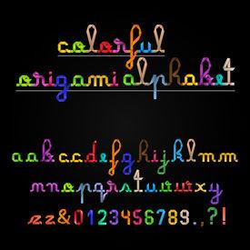 Handwritten Colorful Origami Alphabet