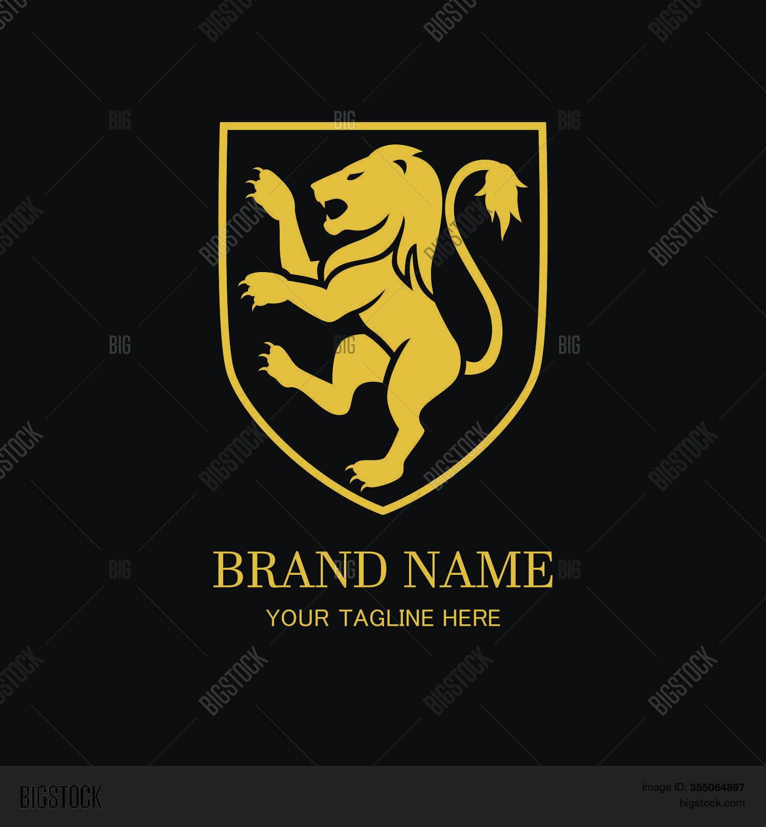 Royal Lion Logo Vector Photo Free Trial Bigstock