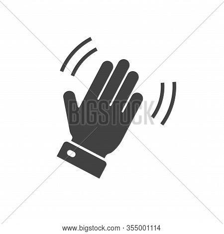 Hello Hi Hand Icon Or Bye Waving Gesture Palm Symbol For Emoji Or Emoticon Vector Flat Cartoon Blank