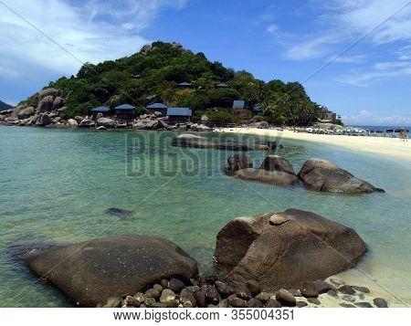 Koh Tao, Thailand - April 25, 2013: Tropical Paradise View, Koh Tao Island, Thailand