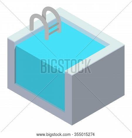 Home Pool Icon. Isometric Of Home Pool Vector Icon For Web Design Isolated On White Background