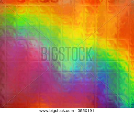 Rainbow Squares Background