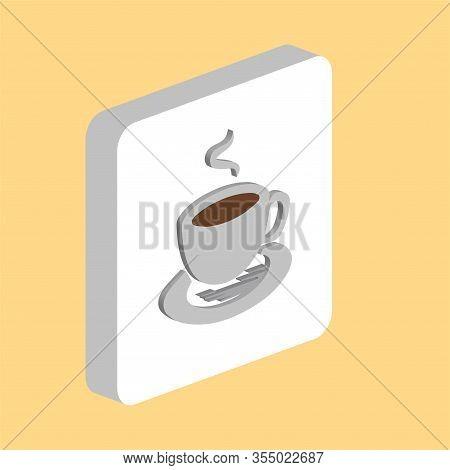 Hot Coffe Simple Vector Icon. Illustration Symbol Design Template For Web Mobile Ui Element. Perfect