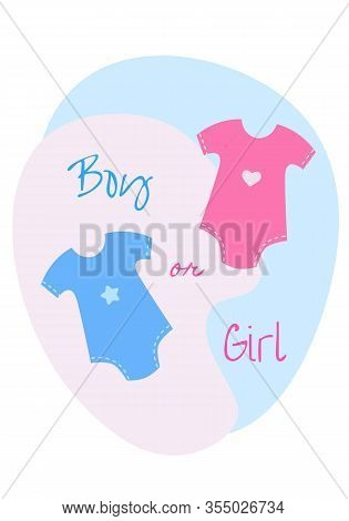 Gender Reveal Party. It's A Boy Or Girl. Happy Pregnancy