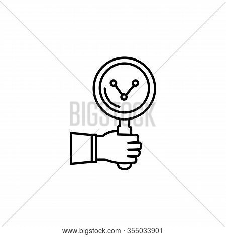 Growth, Ceo, Business Line Illustration Icon On White Background