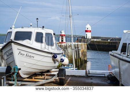 Castletown, Isle Of Man, June 16, 2019. Castletown Harbour, Isle Of Man.