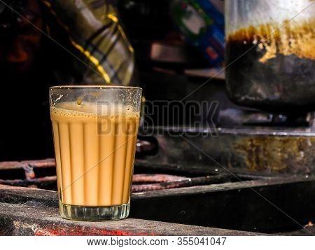 Rishikesh, India - Circa March 2018. Tea (chai) Corner On The Street Market In Rishikesh.