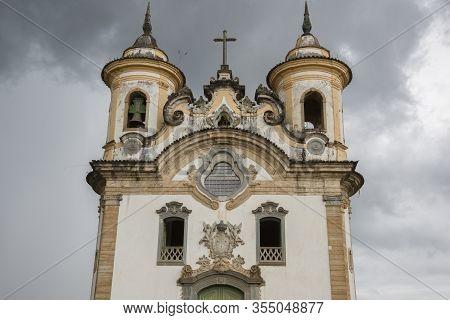 Mariana, Minas Gerais, Brazil - February 26, 2016:  Church Nossa Senhora Do Carmo