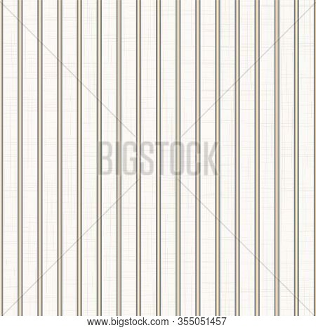 Grey French Linen Vector Classic Thin Stripe Texture Seamless Pattern. Vertical Linear Abstract Back