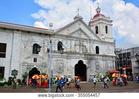 Cebu, Ph - Oct. 10: Santo Nino Basilica Facade On Oct. 10, 2016 In Cebu City, Philippines. The Minor