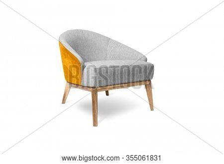 Modern armchair on white background, including clipping path