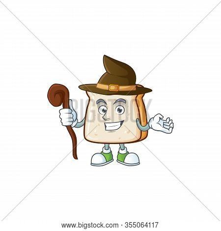 Sweet And Tricky Witch Slice Of Bread Cartoon Character