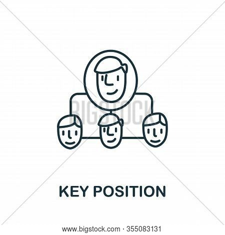 Key Position Icon From Headhunting Collection. Simple Line Key Position Icon For Templates, Web Desi