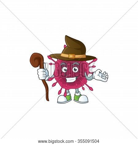 Sweet And Tricky Witch Covid19 Cartoon Character