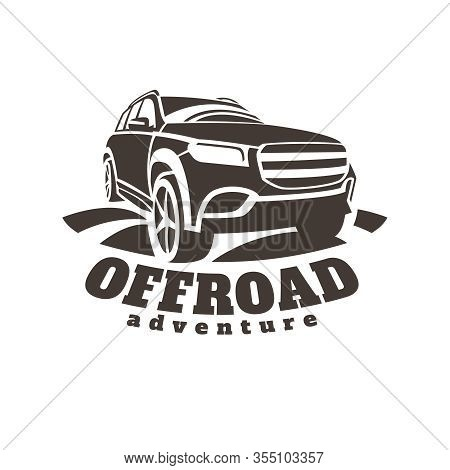 Extreme Competition Emblem. Offroad Expedition. Off-roading Suv Adventure And Car Event Design Eleme