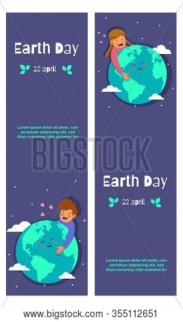 Set of vector cards for Earth Day. Happy International Earth Day. Earth Day. Earth Day background. Earth Day poster. Earth Day illustration. Earth Day banners. Earth day Vectors. Earth Day Vector Illustration. International Earth Day template.