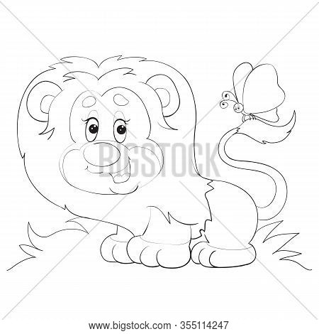 Cartoon Style Little Vector Photo Free Trial Bigstock Cartoon outline lion vectors (620). bigstock