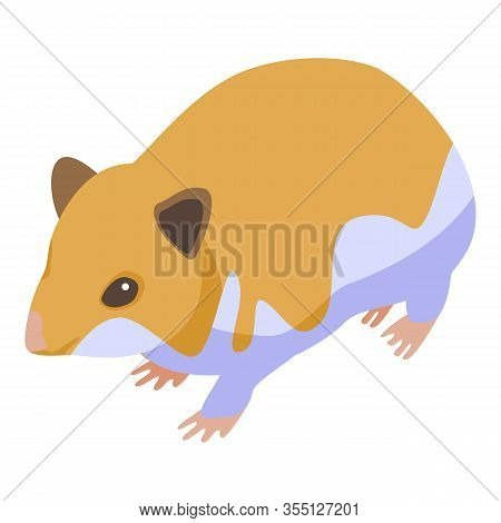 Puppy Hamster Icon. Isometric Of Puppy Hamster Vector Icon For Web Design Isolated On White Backgrou