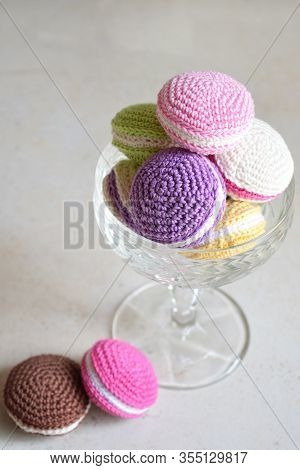 Crochet Amigurumi French Macarons. Toy For Babies Or Trinket. Handmade Gift. Income From Hobby. Diy