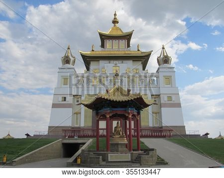 Elista, Republic Of Kalmykia, Russia - May, 2012: Burkhan Bakshin Altan Sume The Golden Abode Of The