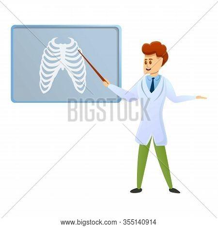 Podiatrist Lesson Icon. Cartoon Of Podiatrist Lesson Vector Icon For Web Design Isolated On White Ba