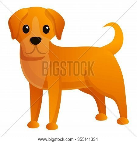 Homeless Dog Icon. Cartoon Of Homeless Dog Vector Icon For Web Design Isolated On White Background