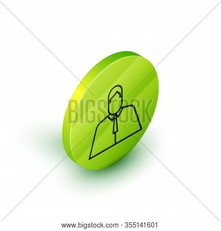 Isometric Line Lawyer, Attorney, Jurist Icon Isolated On White Background. Jurisprudence, Law Or Cou