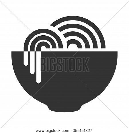 Instant Noodle Icon, Asian Traditional Pasta In A Dish