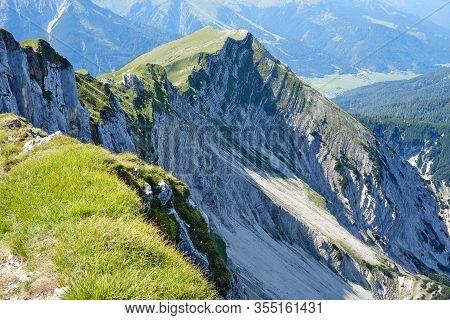 Stuhlbocklkopf Peak, Rofan Mountains, Austria - View From The 5 Gipfel (5 Summits) Via Ferrata Route