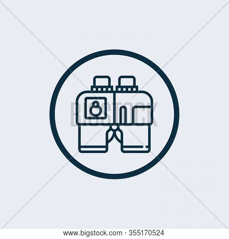 Binoculars Icon Isolated On White Background From Help And Support Collection. Binoculars Icon Trend