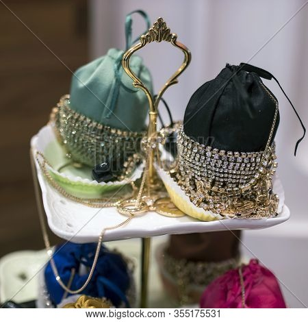 Small Handbags Bordered With Silver Jewelry For Sale In Store