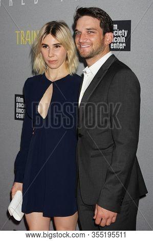 NEW YORK - JUL 14: Zosia Mamet (L) and Evan Jonigkeit attend the world premiere of