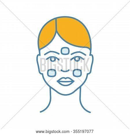 Anesthetic Cream For Neurotoxin Injection Color Icon. Facial Numbing Cream. Neuro Toxin Injection Pr