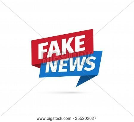 Fake News Isolated Vector Icon. Sign Of Main News On White Background