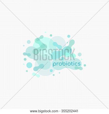 Probiotics Bacteria Vector Logo. Prebiotic, Lactobacillus Vector Icon Design. Prebiotic, Lactobacill