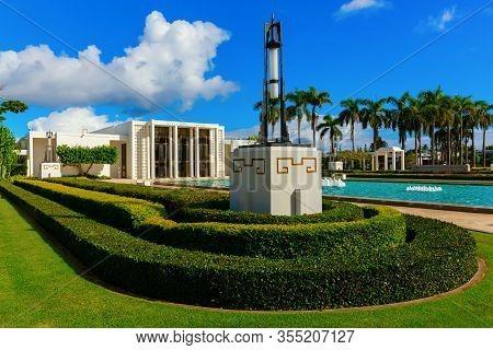 Laie Hawaii Temple On Oahu, Hawaii