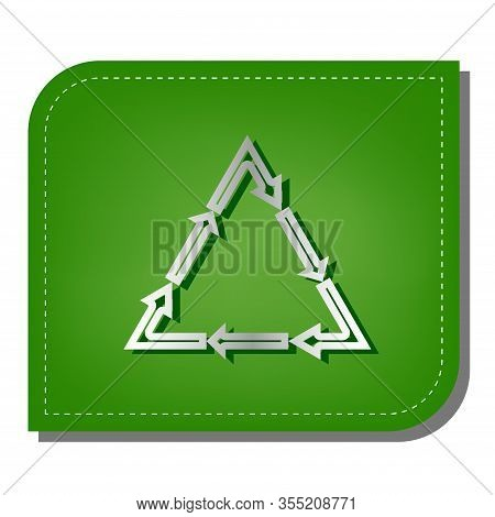 Plastic Recycling Symbol Pvc 3 , Plastic Recycling Code Pvc 3. Silver Gradient Line Icon With Dark G