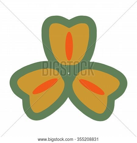 Spring Flower Vector Illustration, Hand Drawing Icon Isolated On White Background, Flower Icon Vecto