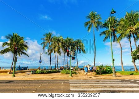 Kuhio Beach Park In Honolulu, Hawaii