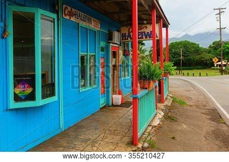 Colorful Store In Haleiwa, Oahu, Hawaii