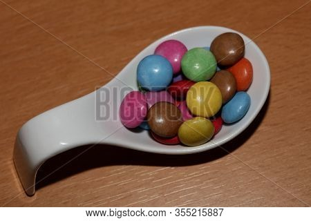 Smarties Sweets Macro Background High Quality Prints