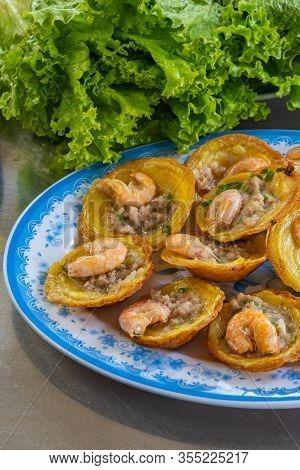 Vietnamese Cuisine, Banh Khot- Tiny Sizzling Fried Shrimp Pancake
