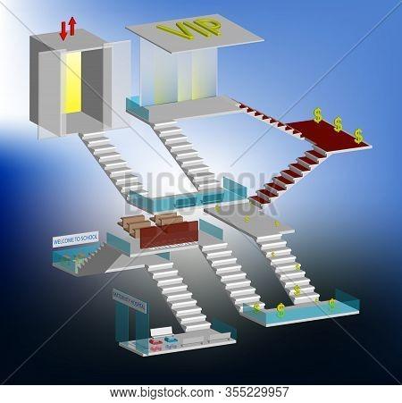Interior, Stairs, Website, Samsara, Job, Isolated, Vip Lounge, Vip, Direction, Luck, Infographics, W