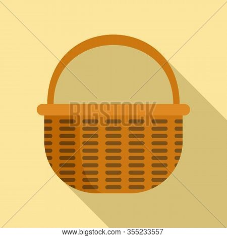 Wooden Wicker Icon. Flat Illustration Of Wooden Wicker Vector Icon For Web Design