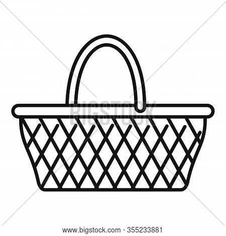 Craft Wicker Icon. Outline Craft Wicker Vector Icon For Web Design Isolated On White Background