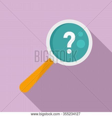 Request Magnifier Question Icon. Flat Illustration Of Request Magnifier Question Vector Icon For Web