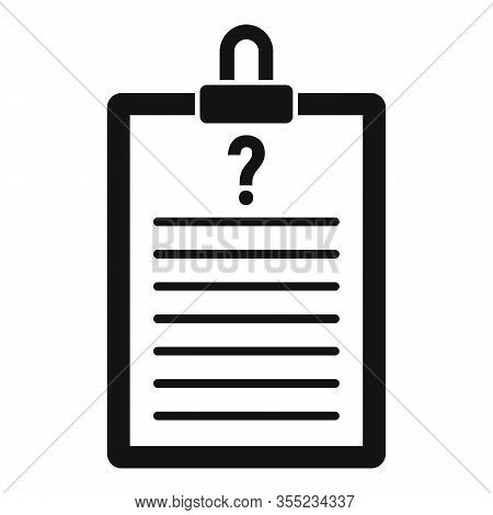 Request Checkboard Icon. Simple Illustration Of Request Checkboard Vector Icon For Web Design Isolat