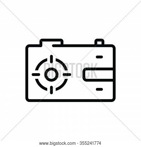 Black Line Icon For Capture Catch Take Camera Aperture Digital Photo Photography Picture Snapshot Fl