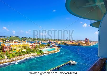 The Caribbean. The Island Of Curacao. Curacao Is A Tropical Paradise In The Antilles In The Caribbea